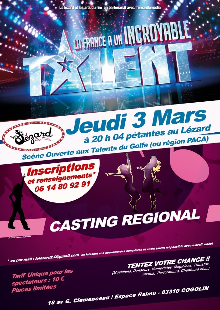 Casting « La France a un incroyable Talent »